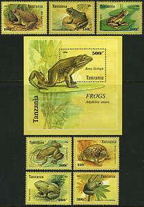 Tanzania 1453-1460, MI 2264-2271, Bl.312, MNH. Amphibia Anura:Frogs & Toads,1996