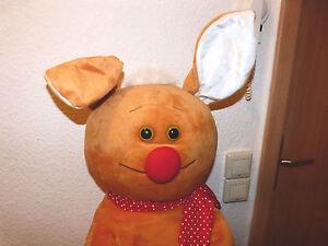 100cm Hase lustig Schaffer Kuschel Stoff Plüsch Tier Figur Sommer Ostern