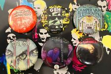 VINTAGE 1980'S PUNK ROCK BUTTONS/PINS/BADGES -THE RAMONES - EX COND - UNUSED