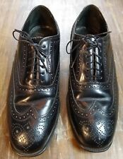 Florsheim Imperial Kenmoor $225 Men's Wingtip Oxford Shoes Sz 8.5 Black Leather