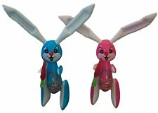 """(Set of 2) 48"""" Pink & Blue Rabbits With Carrot Inflatable Toy Party Decoration"""