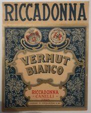 Vecchia etichetta Riccadonna vermut bianco canelli stupenda e rara vedi...