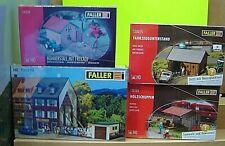 Faller HO 13416 , 130328 ,130185 130325 4 Gebäudebausätze im Set