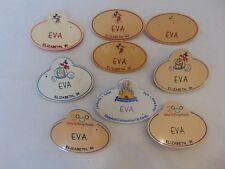 WALT DISNEY WORLD CAST MEMBER NAME TAGS - EVA (Total of 9)