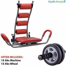 Ab Abdominal Rocket Twister Crunches Exercise Machine Fitness Gym With Ab Roller