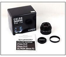 New Voigtlander Color-Skopar 25mm f/4 lens for Leica M 25 F/4