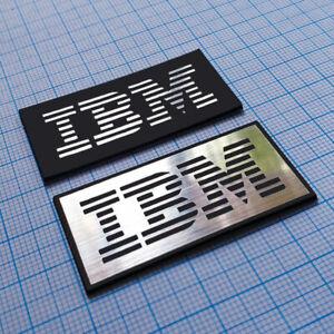 IBM - Metallic (Aluminum) Sticker Case Badge - 48 mm x 24 mm