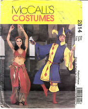 Jester Belly Dancer Adult Small Medium Sewing Pattern Costume MCCALLS UNCUT 2814