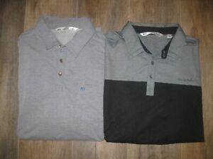 2-Lot Travis Mathew Men's Polo Golf Shirts Casual Dress Lounge XL Coaching Gray