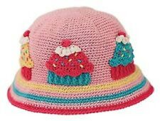 San Diego Hat Daylee Design PINK CUPCAKE Baby Girl Croched 6-12 months gift
