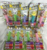 Lot of 9 Happy Easter Pez Candy Dispenser - 2014 Sheep Rabbit Duck