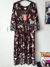 Bnwt Monsoon Sienna Midi Dress Size 16