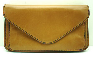 Authentic NWT Hobo Honey Ford Leather Clutch Wallet Honey Brown Wristlet Wallet