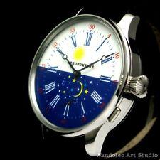 Vintage Mens Wrist Watch Stainless Steel Men Wristwatch Germany Saxonia Movement