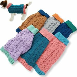 Dog Sweater Knitted Fashion Warm Soft Small Medium Large Pet Cat Puppy XXS - XL