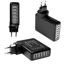 6-fach USB Adapter (4A/4000mA) 220V Netzteil für iPhone iPad Samsung Galaxy Tab
