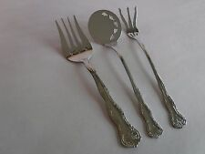 3pc Reed & Barton Select VICTORIA 18/10 Stainless Steel Serving Forks Tomato Ser