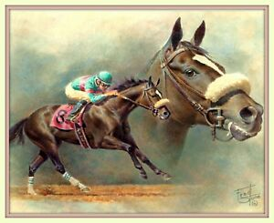 Zenyatta with Mike Smith  Fred Stone 11x14 Double Matted 8x10 Art Print