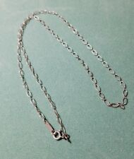 "Tiffany & Co. Sterling Silver Oval Chain Link Necklace 18"" Signed"