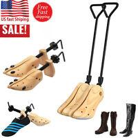 1Pair Wood Boot Stretcher Shaper Shoe Tree Men Women Adjustable Bunions Corns US
