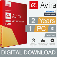 Avira Internet Security Suite 2018 (2Year/1PC) Antivirus Genuine License Windows