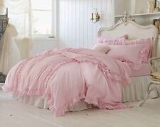Simply Shabby Chic Pink Ruffle Duvet Cover 3pc Set ~ KING