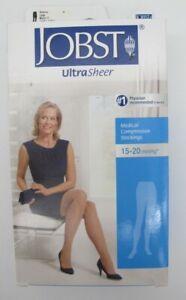Jobst Large 15-20 mmHg Natural Ultra Sheer Compression Socks 119105 Thigh High