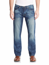 MENS BUFFALO David Bitton Driven Basic Straight Leg Jeans 38x32 $109  Ret NWT