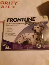 Frontline Plus 45 to 88 lb Flea & Tick Control Large Dogs, 3 Doses EPA APPROVED