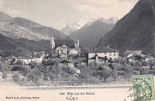 CPA SUISSE SCHWEIZ BALFRIN 5663 visp und der stamped 1907