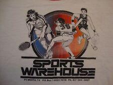 Vintage Sports Warehouse Apparel Paper Thin Ringer White T Shirt Size M