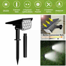 Solar 20-LED Spotlights Outdoor Garden Landscape Pathway Wall Lamps *US STOCK*