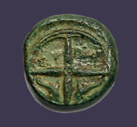 Archaios   Greek Sicily Syracuse Arethusa Dolphins Wheel   AE   10.27