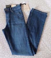 M&S Indigo Collection Slim Boot Sits Below The Waist Stretch Denim Jeans
