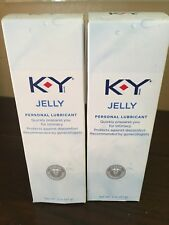 K-Y KY Jelly Personal Lubricant 2 oz (2 boxes)