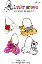 "Loralie Art Stamp - 701087 Pretty Purses - 4"" x 6"" Cling Rubber Sheet"