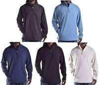 Club Room Men's Navy Blue Fleece Light Weight 1/4 Zip Jacket Choose Size