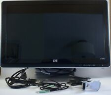 """HP 2009m 20"""" LCD Monitor Widescreen with Integrated Speakers VGA DVI-D Tested"""