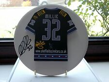 Les Millie, Sheffield Scimitars, Rare & Stunning Autographed/Signed Plaque.