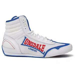 Lonsdale Mens Contender Boxing Boots Mid Lace Up Breathable Lightweight Mesh