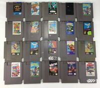 Lot Of 20 Nintendo Video Game Huge Classic Nes Games Mario Batman UNTESTED AS-IS