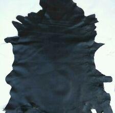Vera pelle di montone/agnello color nero,pellami/pellame