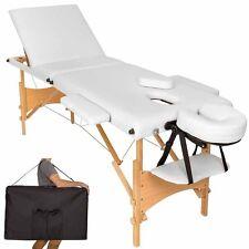 Lettino massaggio pieghevole legno x tattoo massaggi estetica portatile bianco