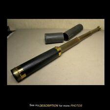 "Antique 24"" Brass Telescoping Telescope Textured Leather Grip"