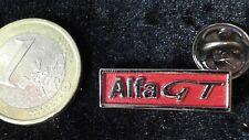 Alfa Romeo Pin Badge Logo Schriftzug ALFA GT silber rot