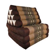 Thai Three Fold Triangular Cushion - Brown (DM14)