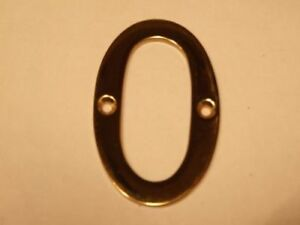 """3"""" chrome finish brass Door number. See listing for numbers available"""
