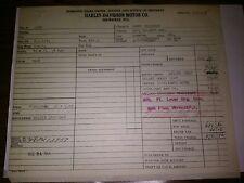 1948 FL  HAMMOND IND. HARLEY DAVIDSON DOMESTIC SALES ORDER