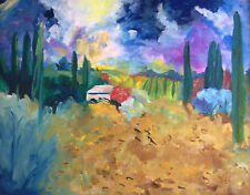 Impressionist STILL LIFE Abstract TUSCANY ITALY Landscape By Virgina EE Oil