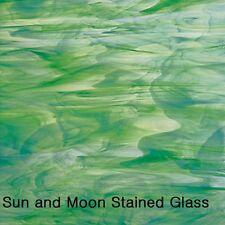 Spectrum Stained Glass Sheet (S325-6) - White / Dark Green